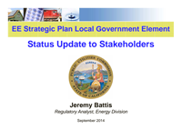 Status Update to Stakeholders