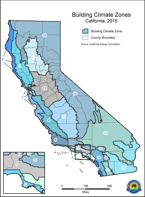 Cec S Updated Climate Zone Map California S Local Government